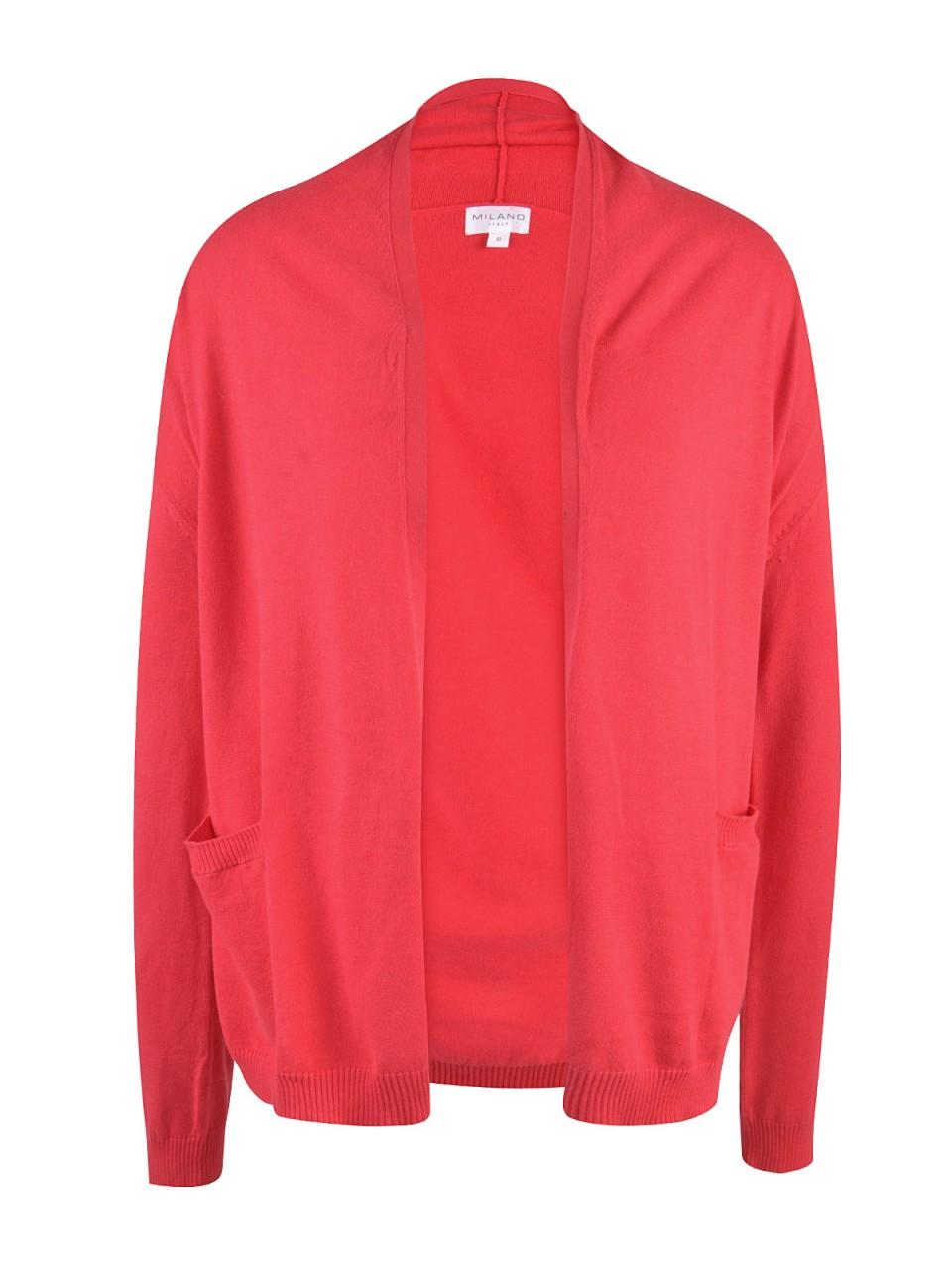 Jacken - MILANO ITALY Damen Cardigan, rot  - Onlineshop Designermode.com