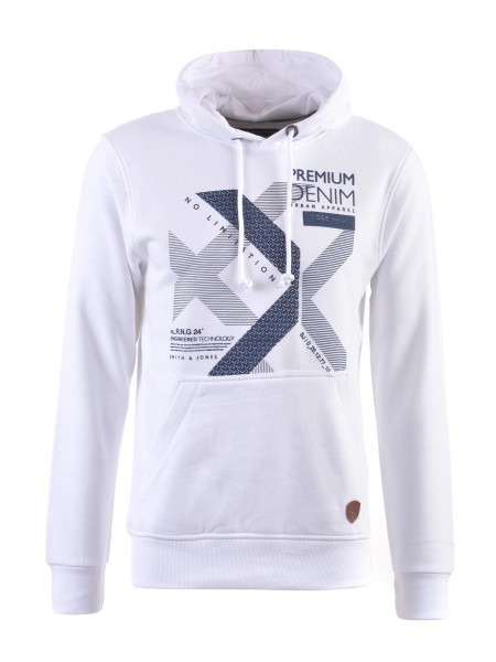 SMITH & JONES Herren Sweatshirt, weiß