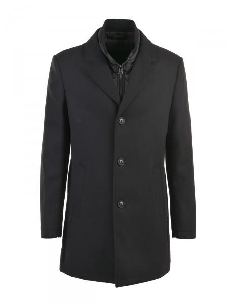 MILANO ITALY Herren Mantel Wolle, schwarz