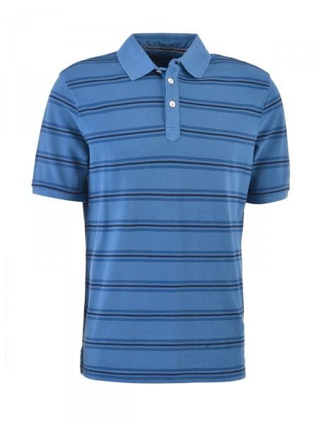 BUGATTI Herren Poloshirt, blau