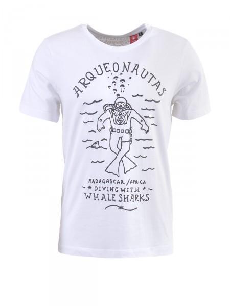 ARQUEONAUTAS Herren T-Shirt, weiß