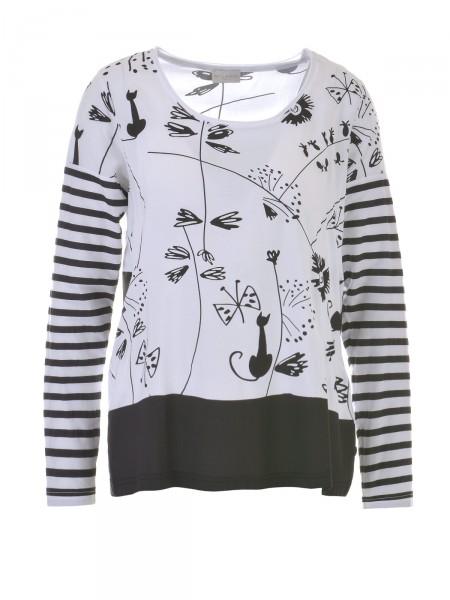 MILANO ITALY Damen Shirt, schwarz-weiß