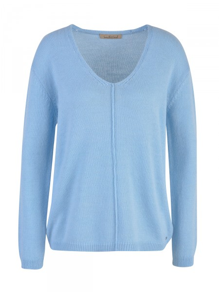 SMITH & SOUL Damen Strickpullover, hellblau