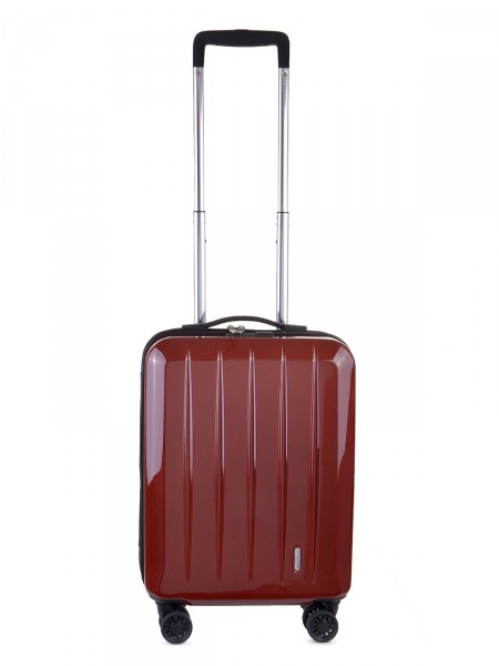 "MILANO ITALY Trolley ""Mailand 50 cm"", rot carbon"