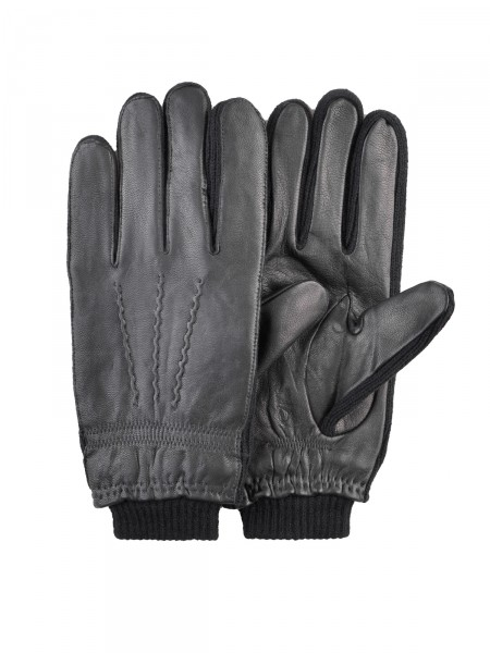 MILANO ITALY Lederhandschuhe, schwarz