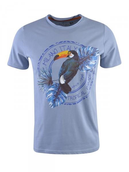MILANO ITALY Herren T-Shirt, hellblau
