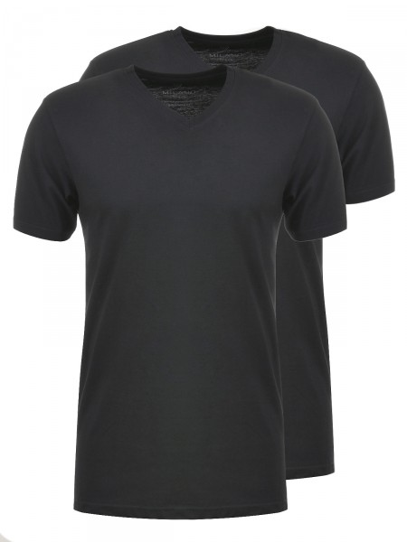 MILANO ITALY Herren T-Shirt 2er Pack, schwarz