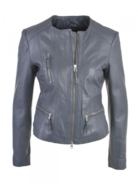 SMITH & SOUL Damen Lederjacke, anthrazit