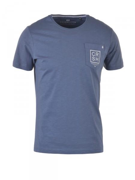 CROSSHATCH Herren T-Shirt, blau