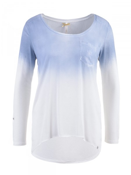 KEY LARGO Damen Shirt, blau-weiß