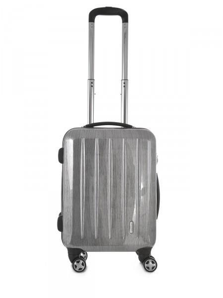 """MILANO ITALY Trolley """"London TSA 50 cm"""", silber gebürstet"""