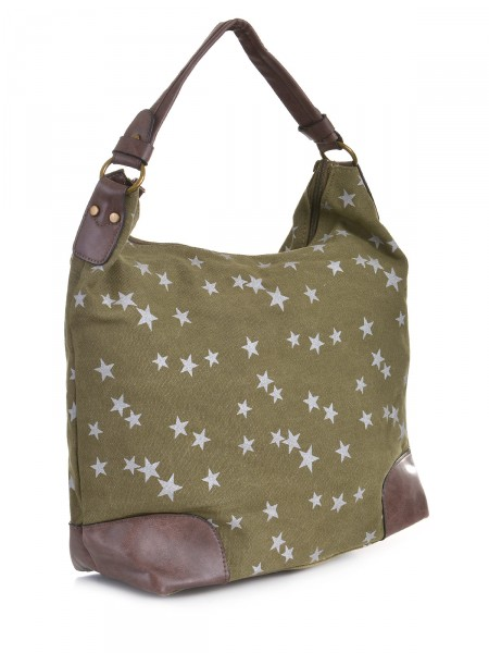 Canvas Damen Tasche, oliv