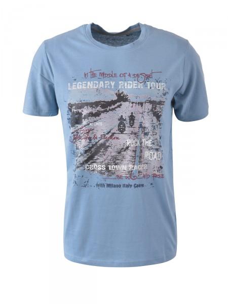 MILANO ITALY Herren T-Shirt, rauchblau