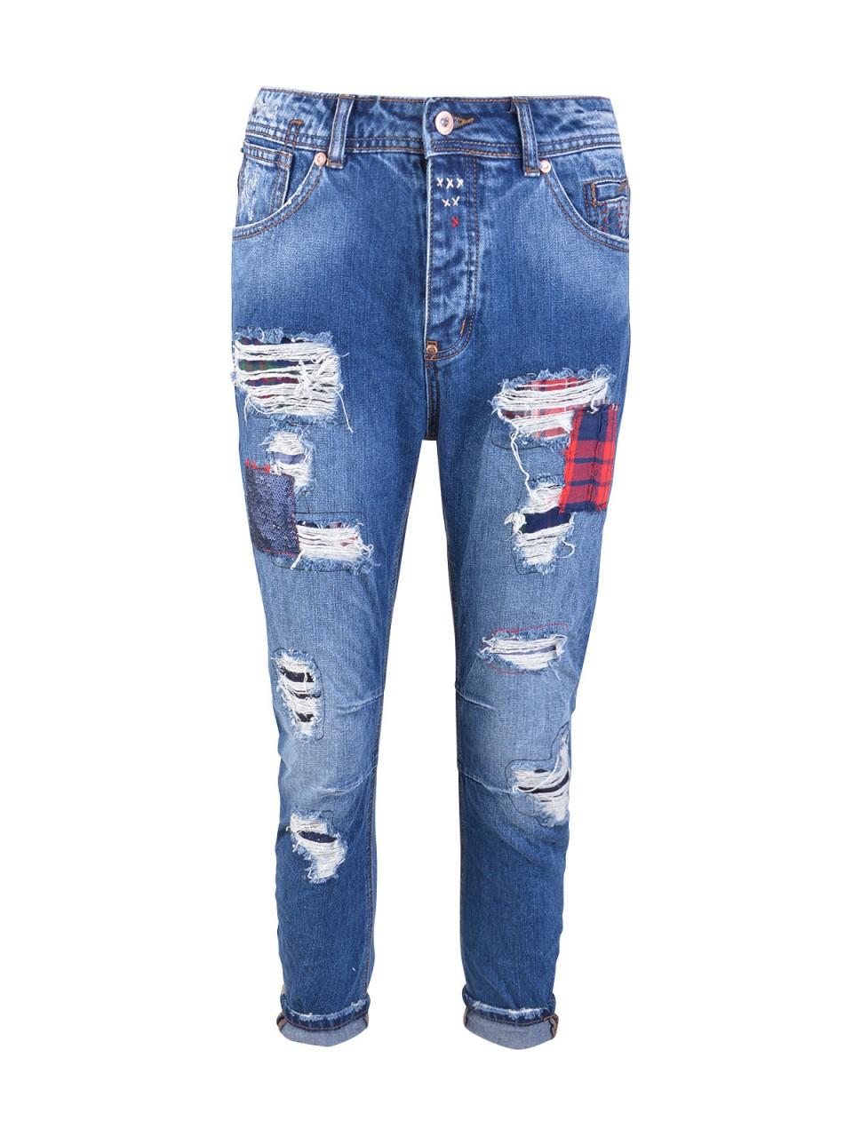Hosen für Frauen - WIYA Damen Ankle Jeans Sophie , dunkelblau  - Onlineshop Designermode.com