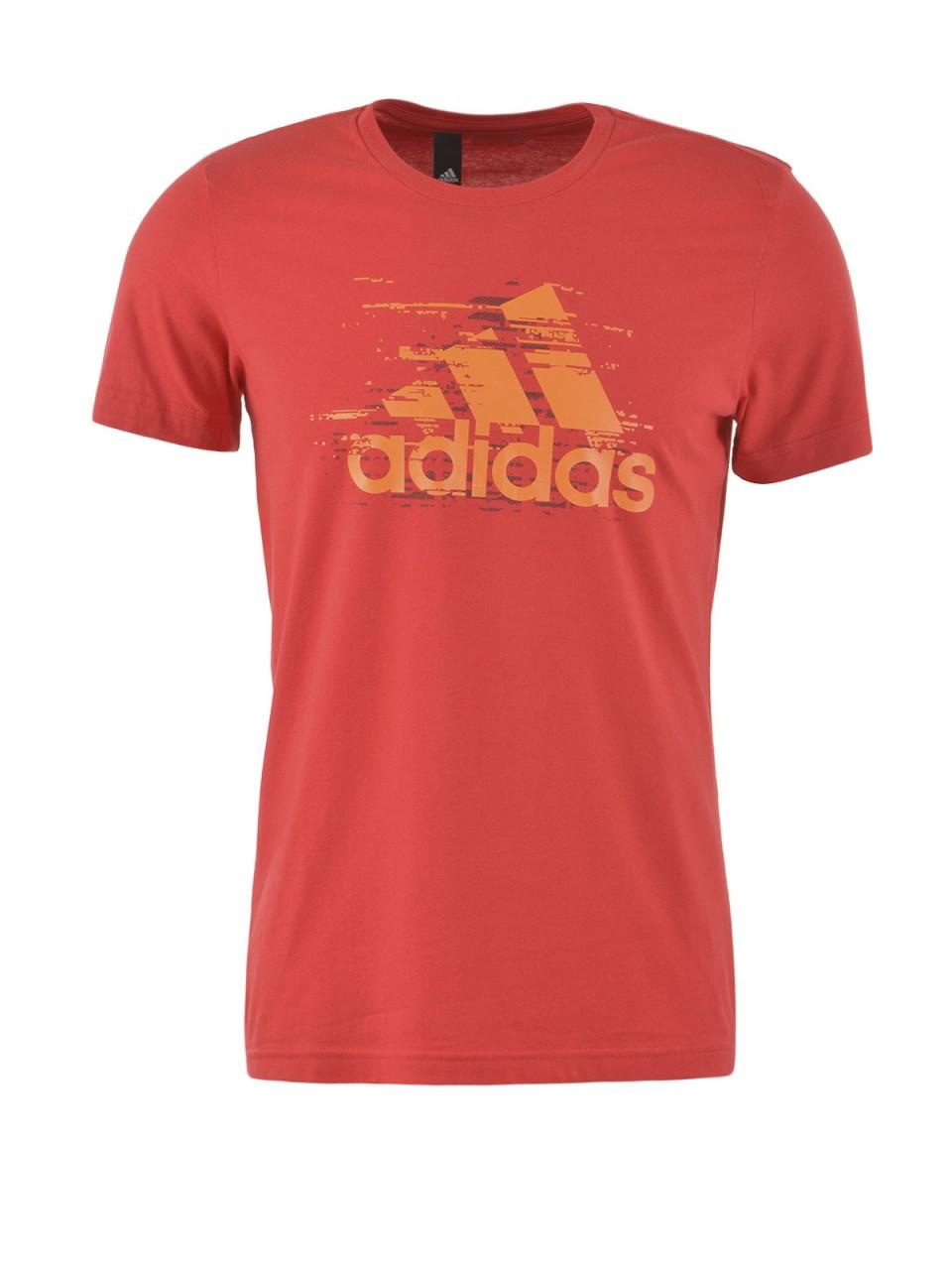 ADIDAS Herren T-Shirt, rot
