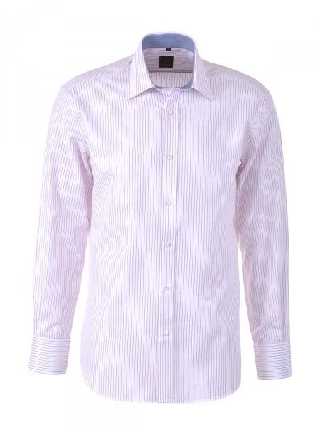 MILANO ITALY Herren Hemd, weiß-rosa