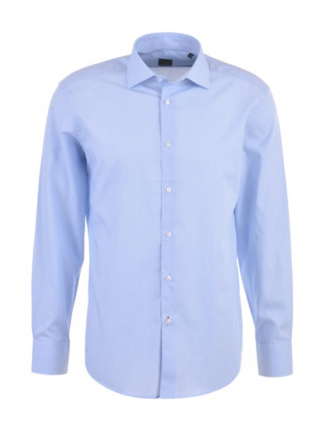 MILANO ITALY Herren Businesshemd Regular Cut, hellblau