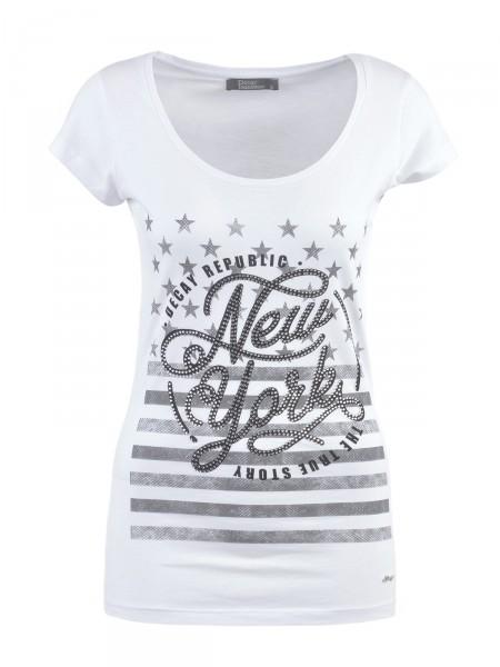 DECAY Damen T-Shirt, weiß
