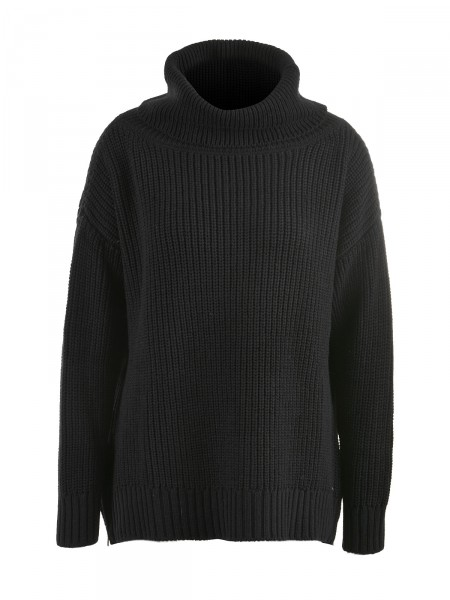 SMITH & SOUL Damen Turtleneck Pullover, schwarz
