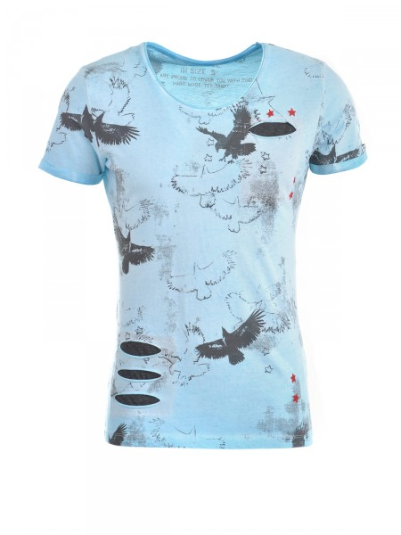KEY LARGO Herren T-Shirt, blau