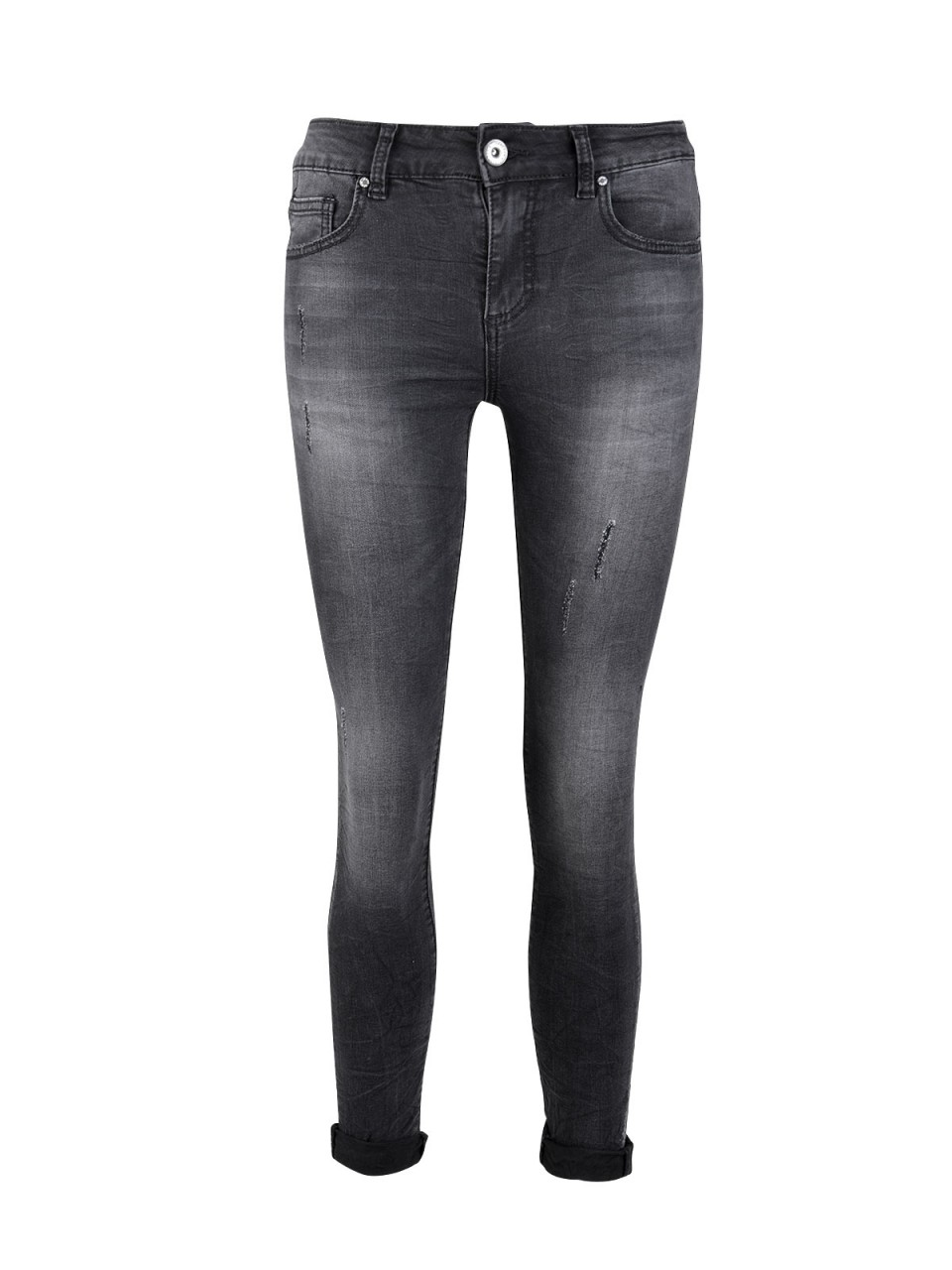 "3D DENIM Damen Ankle Jeans ""3D-619"", schwarz"