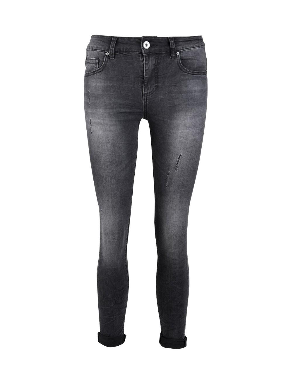 Hosen für Frauen - 3D DENIM Damen Ankle Jeans 3D 619 , schwarz  - Onlineshop Designermode.com