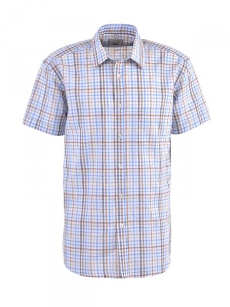 MILANO ITALY Herren Hemd, hellblau-weiß