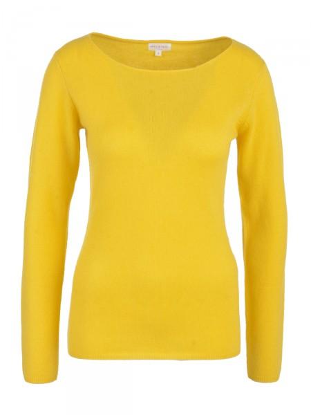 Milano Italy Damen Kaschmir Pullover, gelb