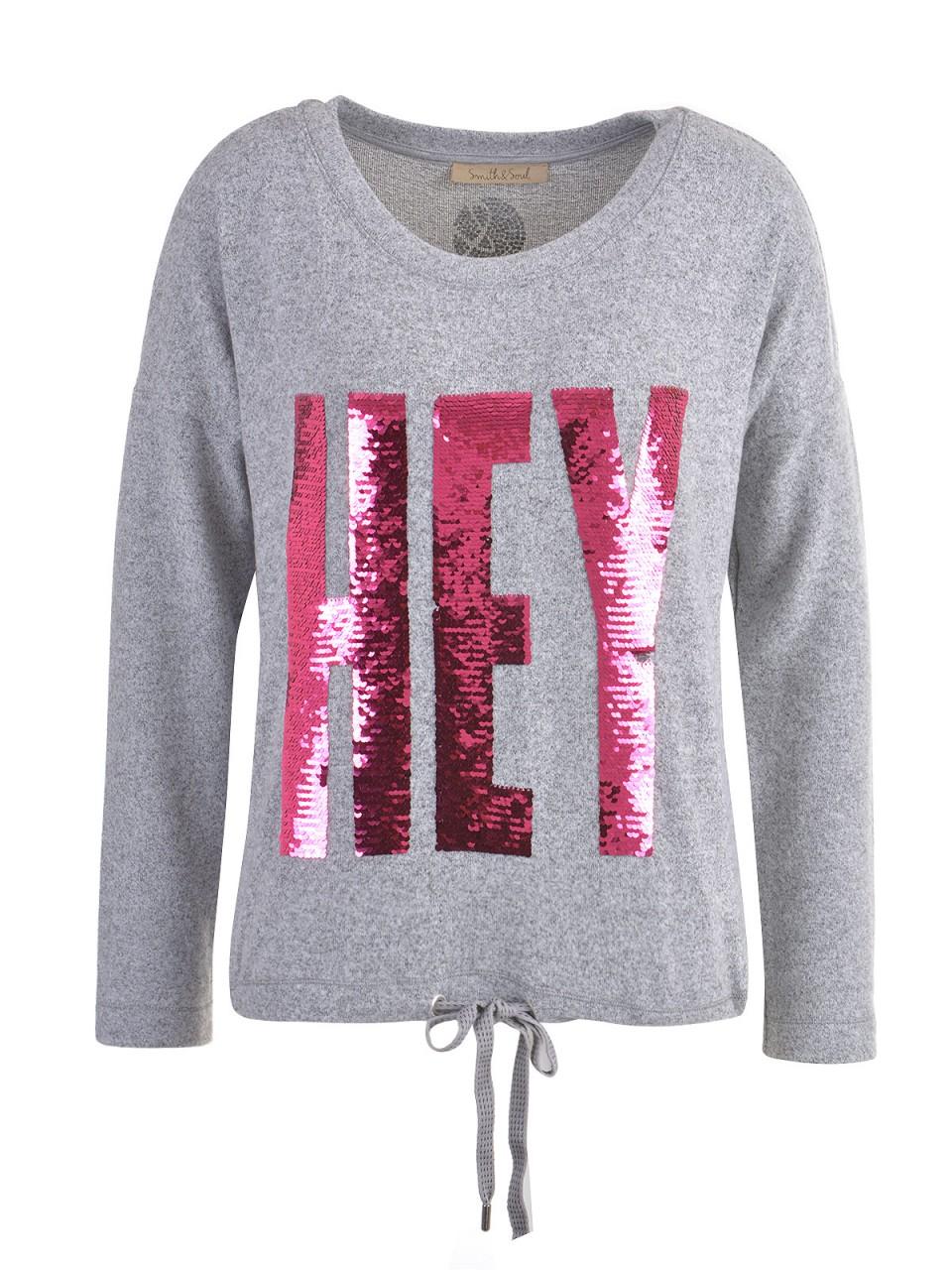 Oberteile - SMITH SOUL Damen Sweatshirt, grau  - Onlineshop Designermode.com