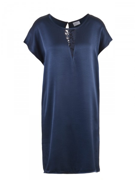 VILA Damen Kleid, navy