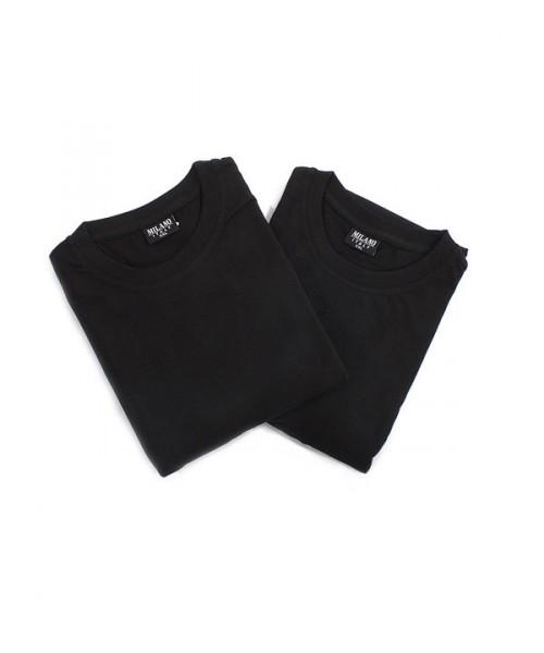 MILANO ITALY Doppelpack Langarmshirts, schwarz