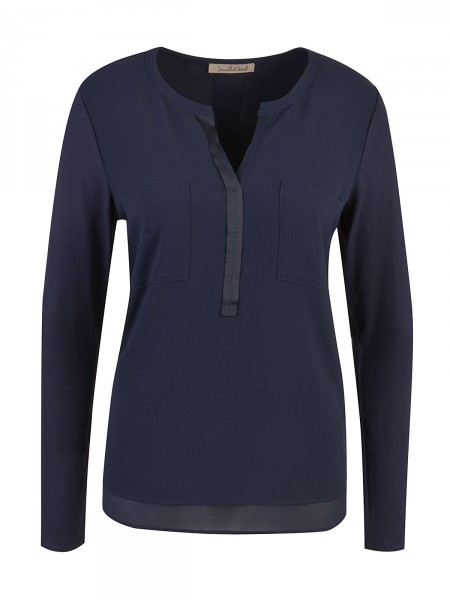 SMITH & SOUL Damen Bluse, marine
