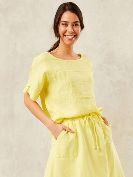 HEARTKISS Damen Bluse, gelb