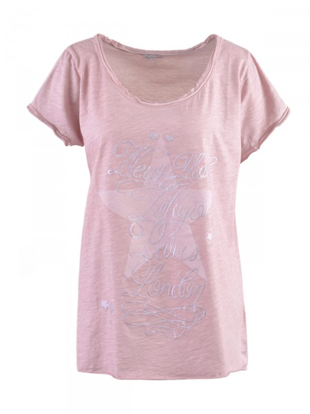 HEARTKISS Damen T-Shirt, rosé