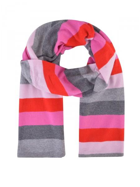 MILANO ITALY Damen Schal, rot-pink-grau