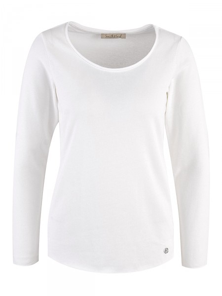 SMITH & SOUL Damen Pullover, weiß