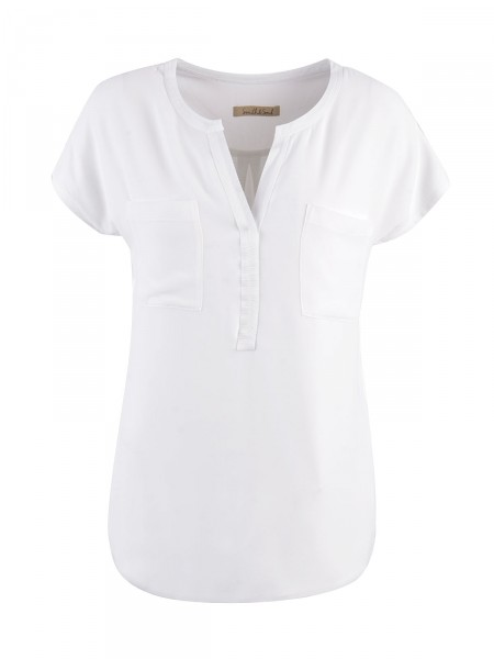 SMITH & SOUL Damen Bluse, weiß