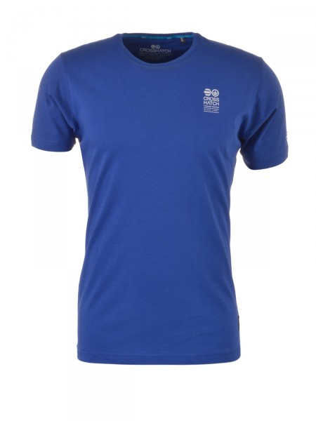 CROSSHATCH Herren T-Shirt, royalblau