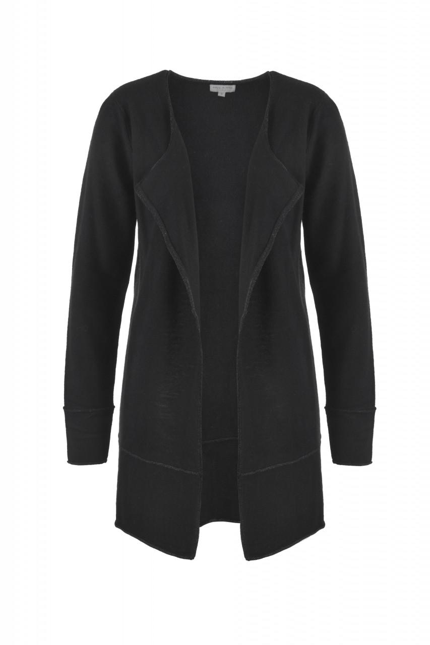 Jacken - MILANO ITALY Damen Cardigan, schwarz  - Onlineshop Designermode.com