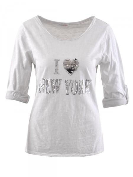 HEARTKISS Damen Shirt, grau