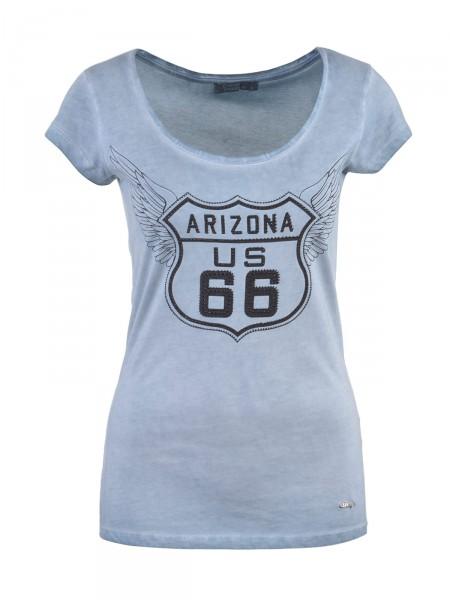 DECAY Damen T-Shirt, blau
