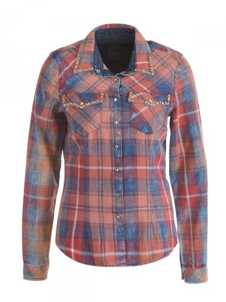 KEY LARGO Damen Bluse, rot-blau