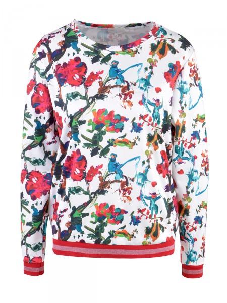 MILANO ITALY Damen Sweatshirt, weiß