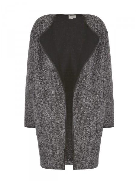 MILANO ITALY Damen Cardigan, schwarz-grau