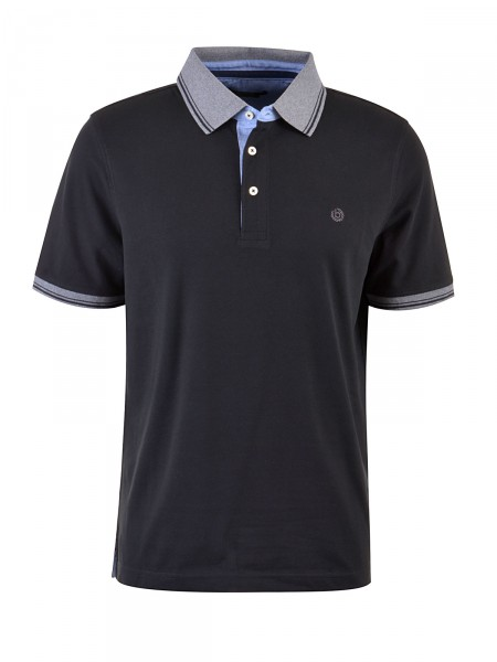 BUGATTI Herren Poloshirt, schwarz