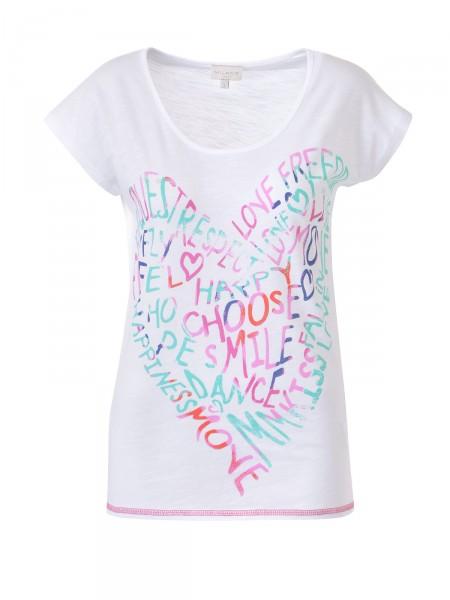 MILANO ITALY Damen T-Shirt, weiß