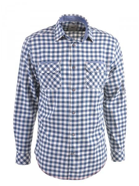 MILANO ITALY Herren Hemd, blau-creme