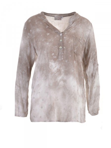 HEARTKISS Damen Bluse, taupe