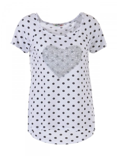 D&F FASHION Damen T-Shirt, weiß