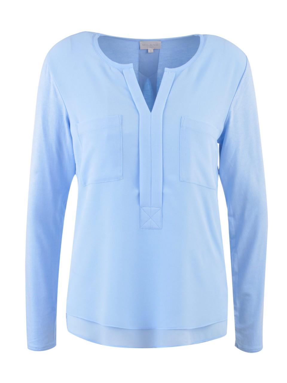 milano-italy-damen-bluse-hellblau